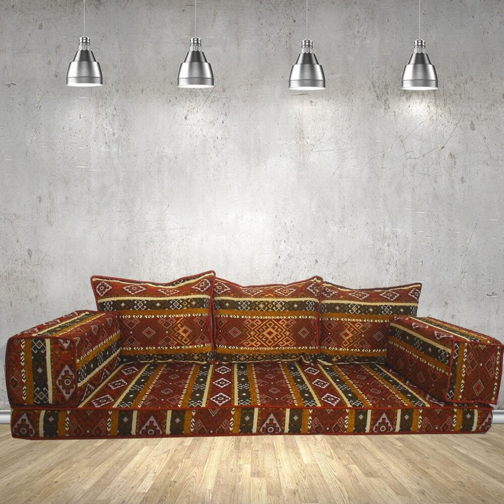 Floor sofa with triple back pillows - SHI_FS318