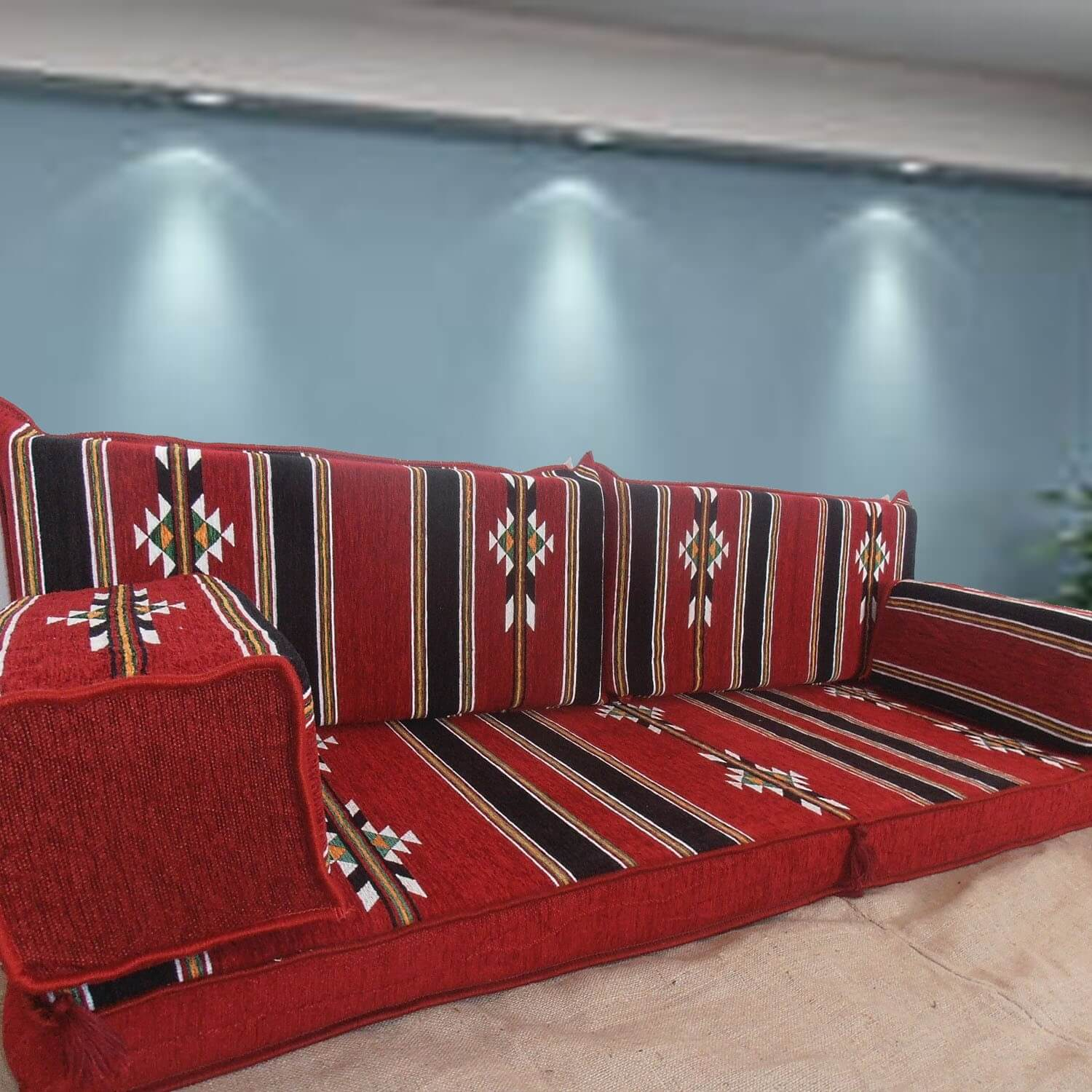 Floor sofa with double back pillows - SHI_FS221
