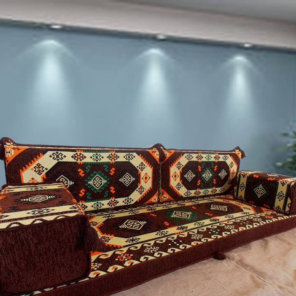 Floor sofa with double back pillows - SHI_FS249