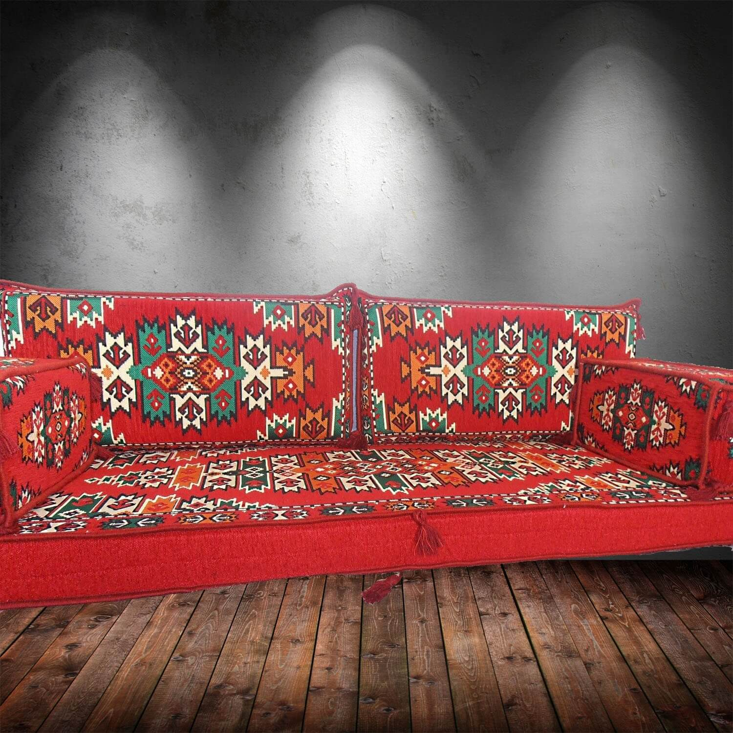 Floor sofa with double back pillows - SHI_FS225