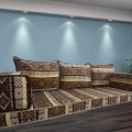 Floor sofa with triple back pillows - SHI_FS313
