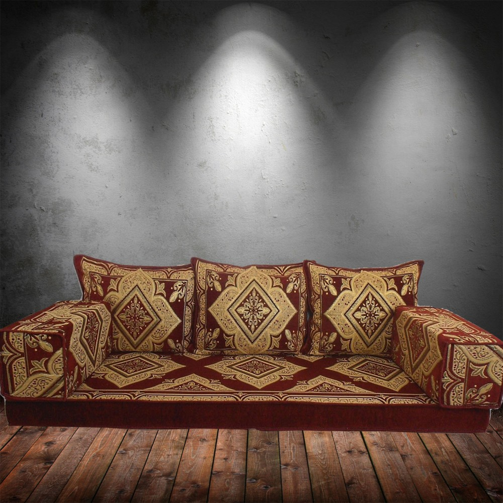 Floor sofa with triple back pillows - SHI_FS38