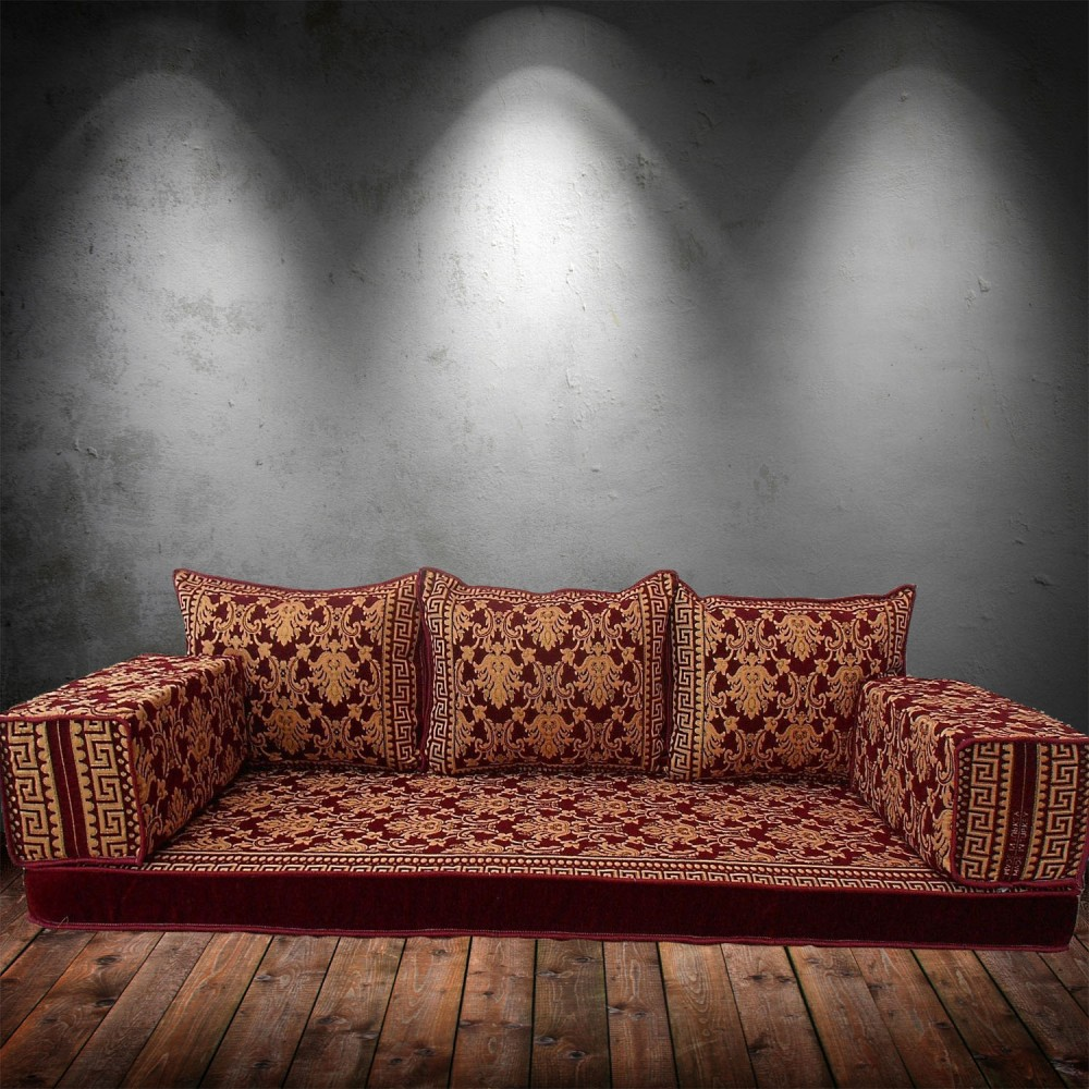 Floor sofa with triple back pillows - SHI_FS363