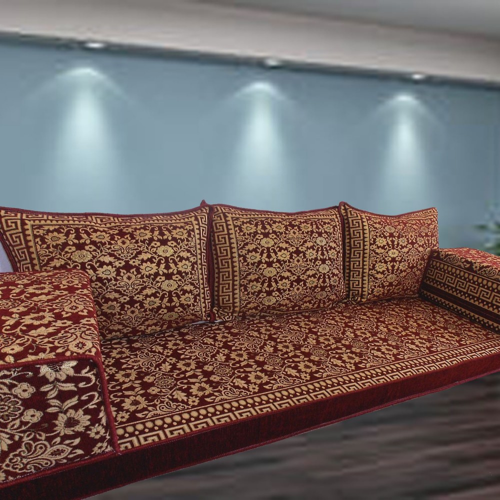 Floor sofa with triple back pillows - SHI_FS358