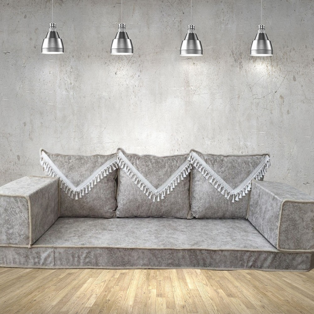Floor sofa with triple back pillows - SHI_FS375
