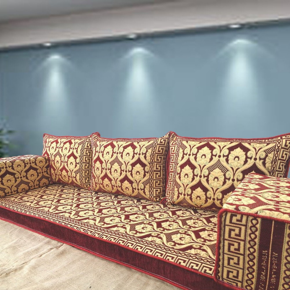 Floor sofa with triple back pillows - SHI_FS384