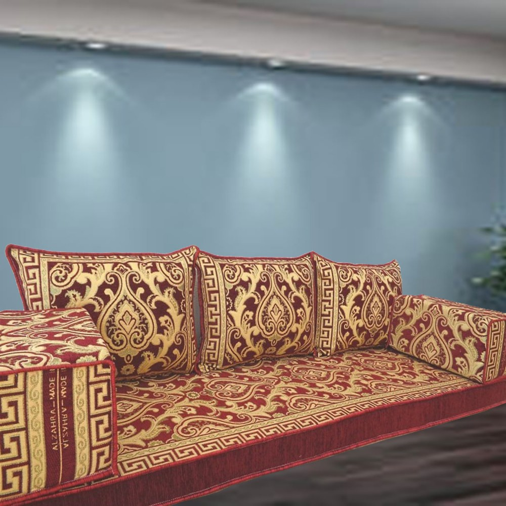 Floor sofa with triple back pillows - SHI_FS389