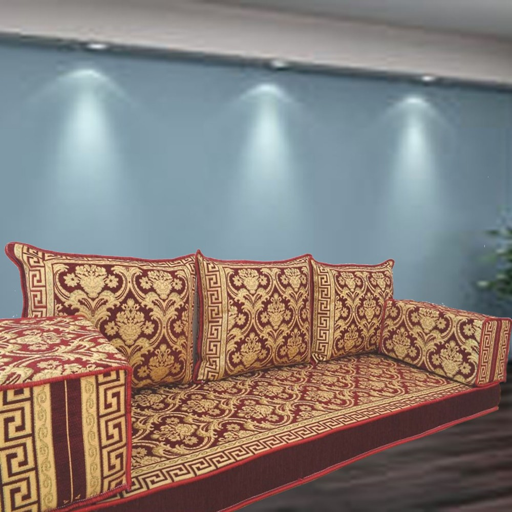 Floor sofa with triple back pillows - SHI_FS390