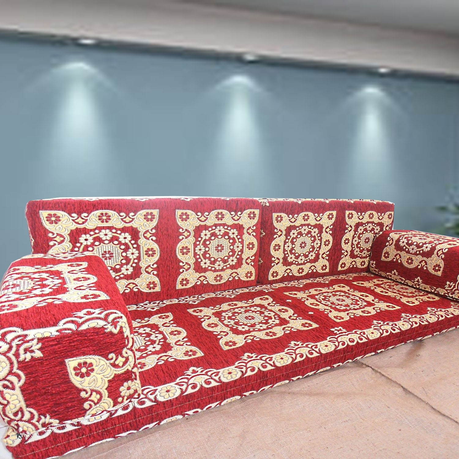 Floor sofa with double back pillows - SHI_FS203