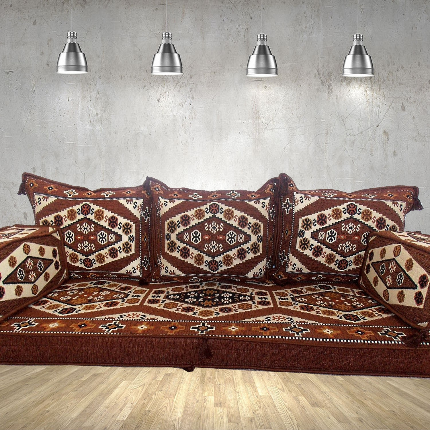 Floor sofa with triple back pillows - SHI_FS330