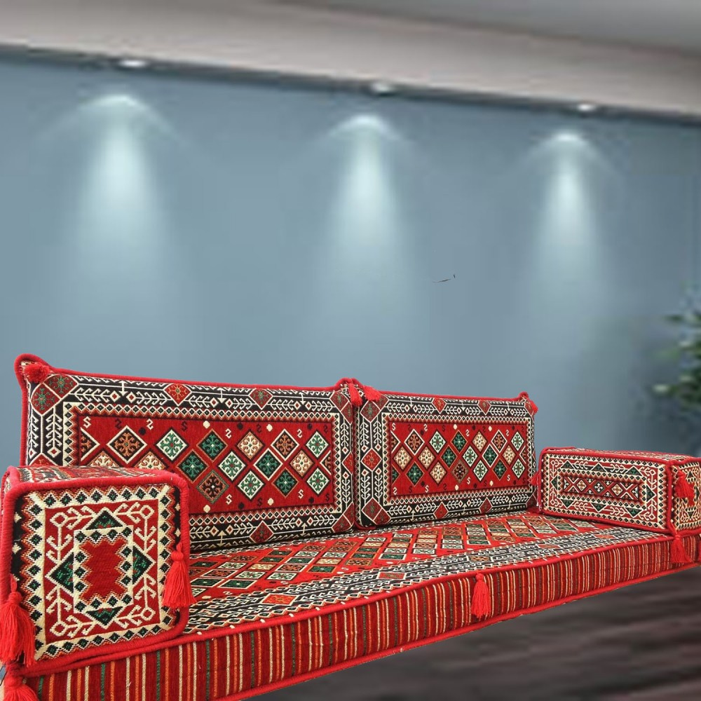 Floor sofa with double back pillows - SHI_FS2100