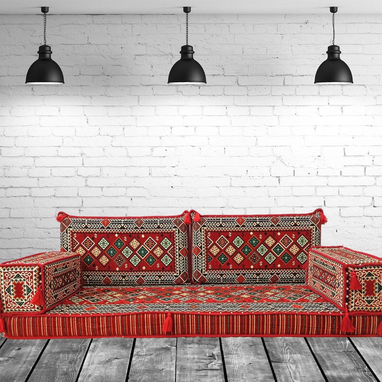 Opis Three Seater Oriental Majlis Floor Sofa Couch