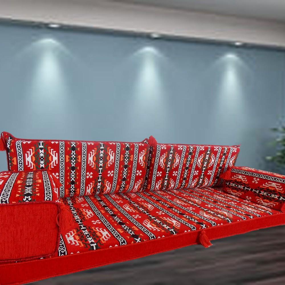 Mari Three Seater Majlis Floor Sofa Couch