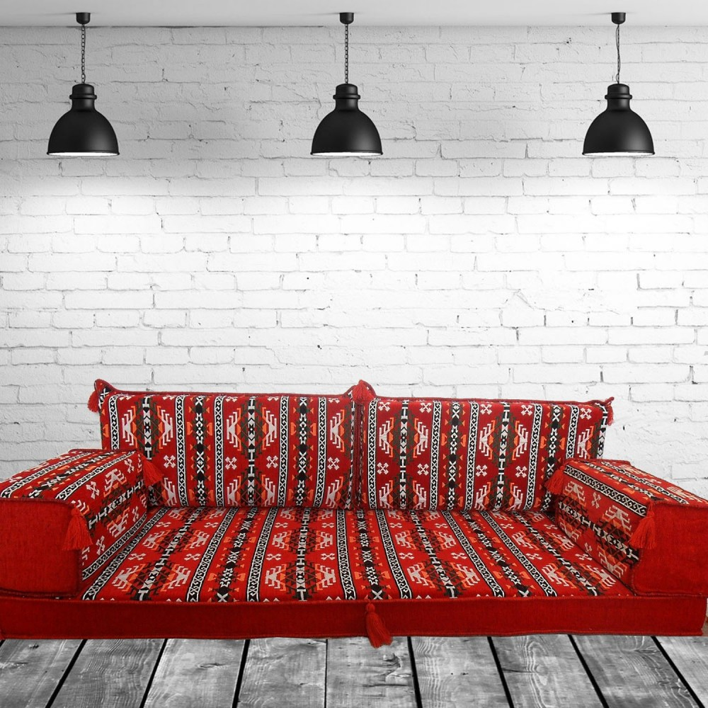 Floor sofa with double back pillows - SHI_FS248