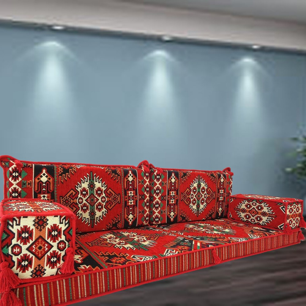 Floor sofa with double back pillows - SHI_FS2117