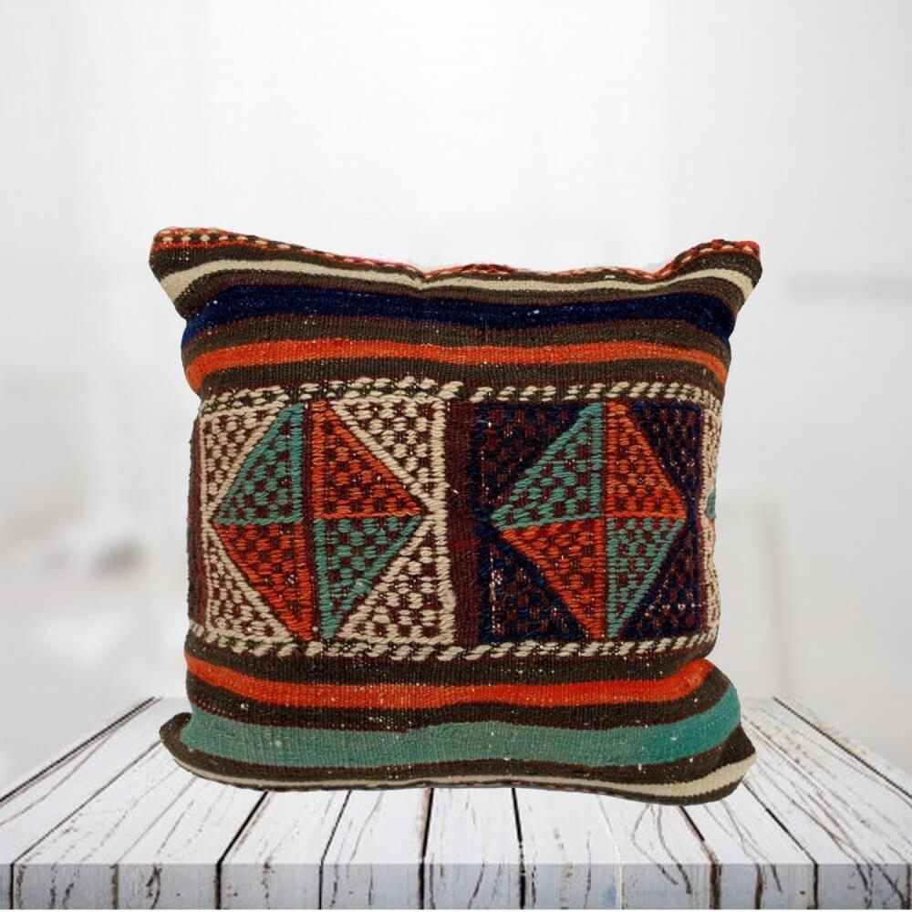 Handwoven Turkish kilim pillow case - SHI_PC01