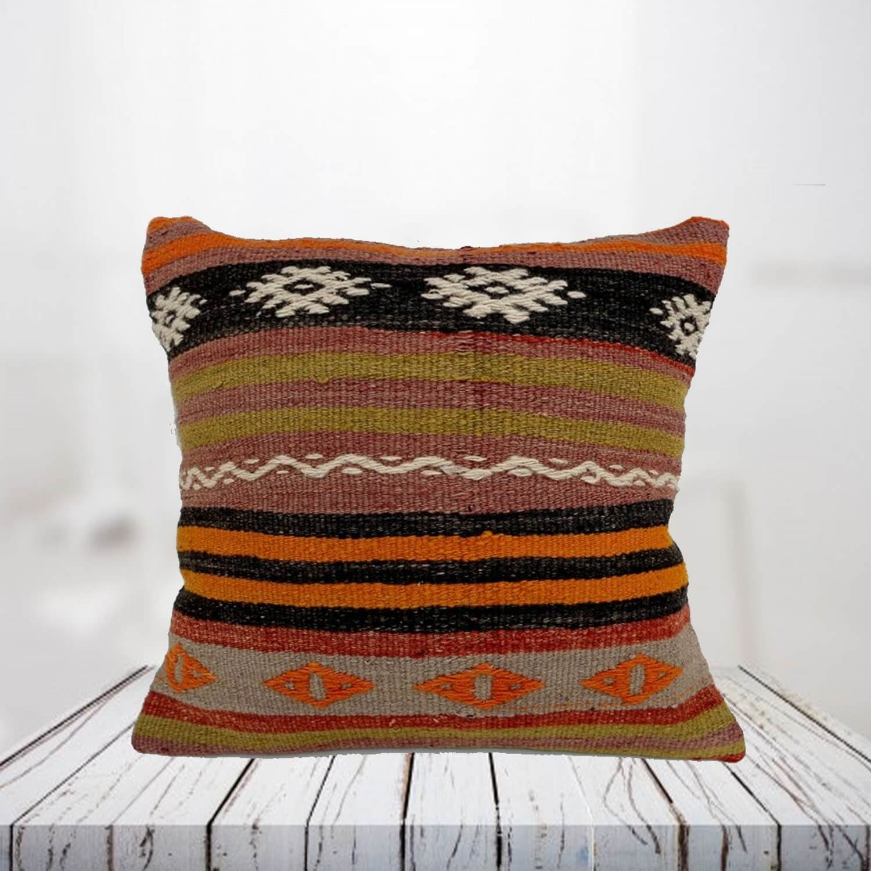 Handwoven Turkish kilim pillow case - SHI_PC03