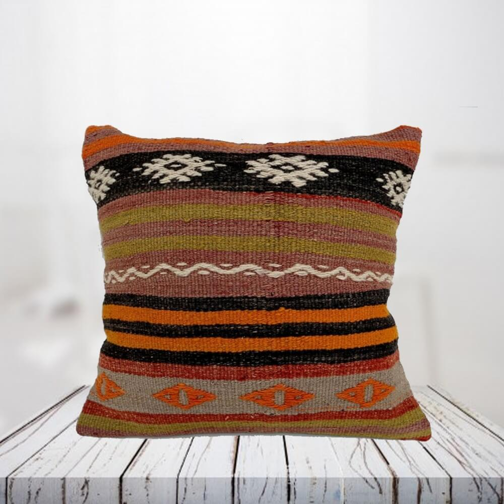 Handwoven Turkish kilim pillow case - SHI_PC03