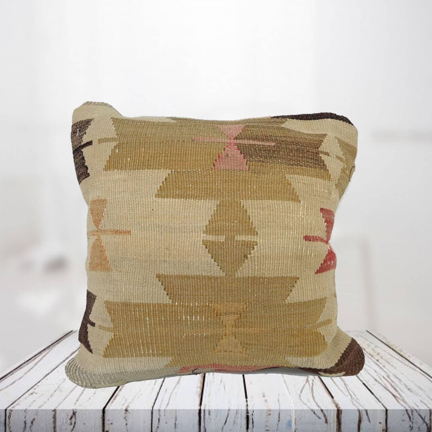 Handwoven Turkish kilim pillow case - SHI_PC04