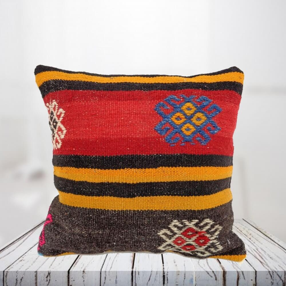 Handwoven Turkish kilim pillow case - SHI_PC10