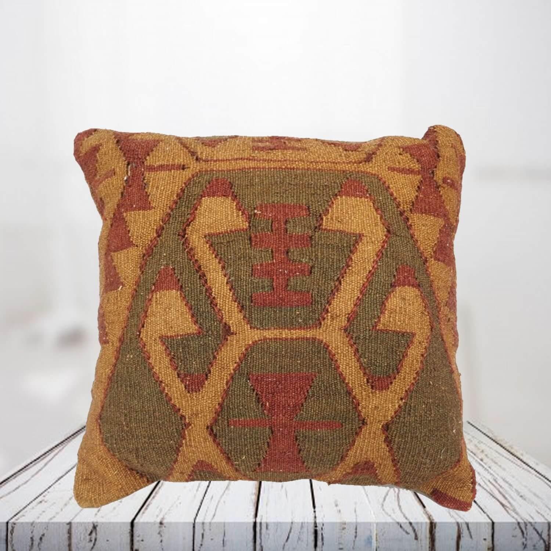 Handwoven Turkish kilim pillow case - SHI_PC11
