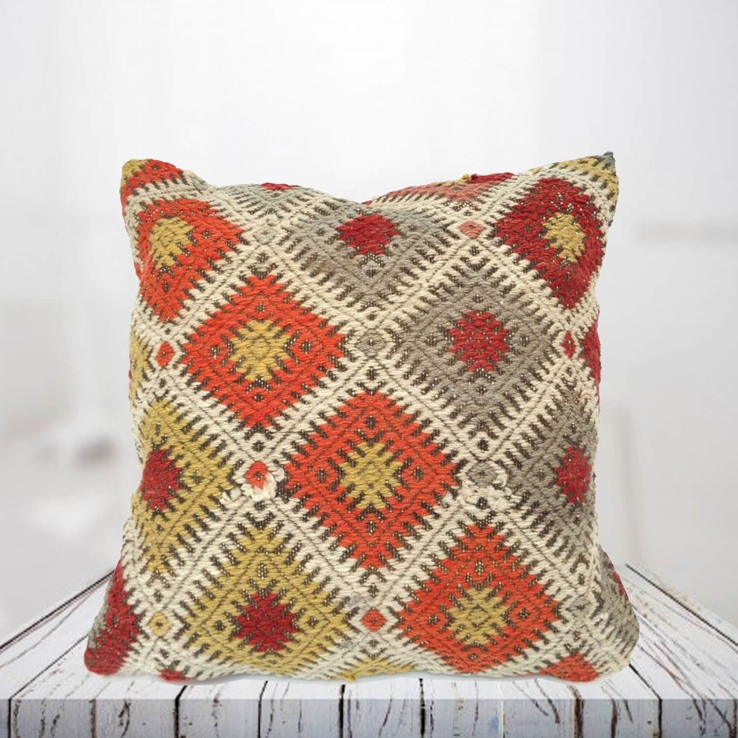 Handwoven Turkish kilim pillow case - SHI_PC12