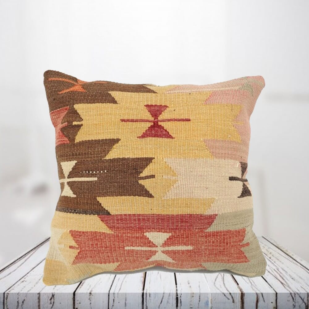 Handwoven Turkish kilim pillow case - SHI_PC13