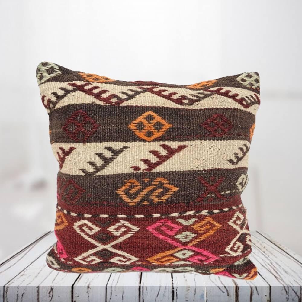Handwoven Turkish kilim pillow case - SHI_PC14