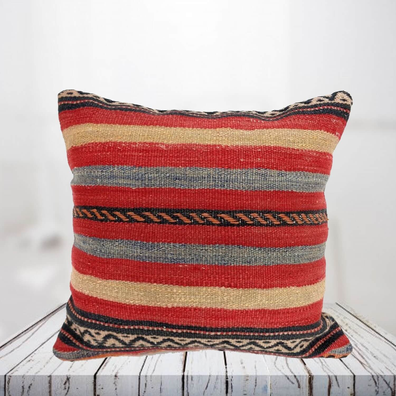 Handwoven Turkish kilim pillow case - SHI_PC17