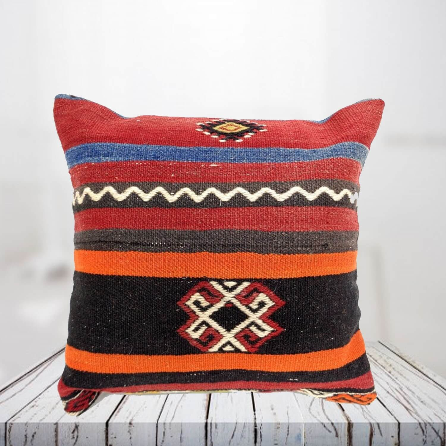 Handwoven Turkish kilim pillow case - SHI_PC19
