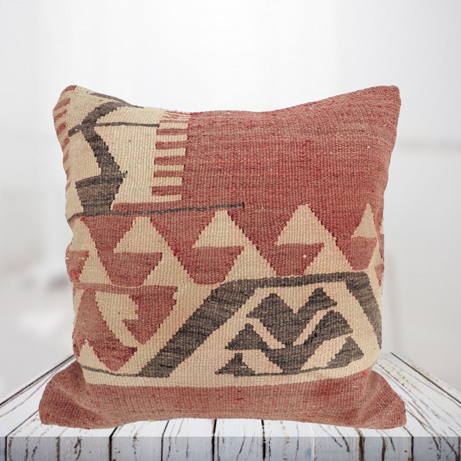 Handwoven Turkish kilim pillow case - SHI_PC25