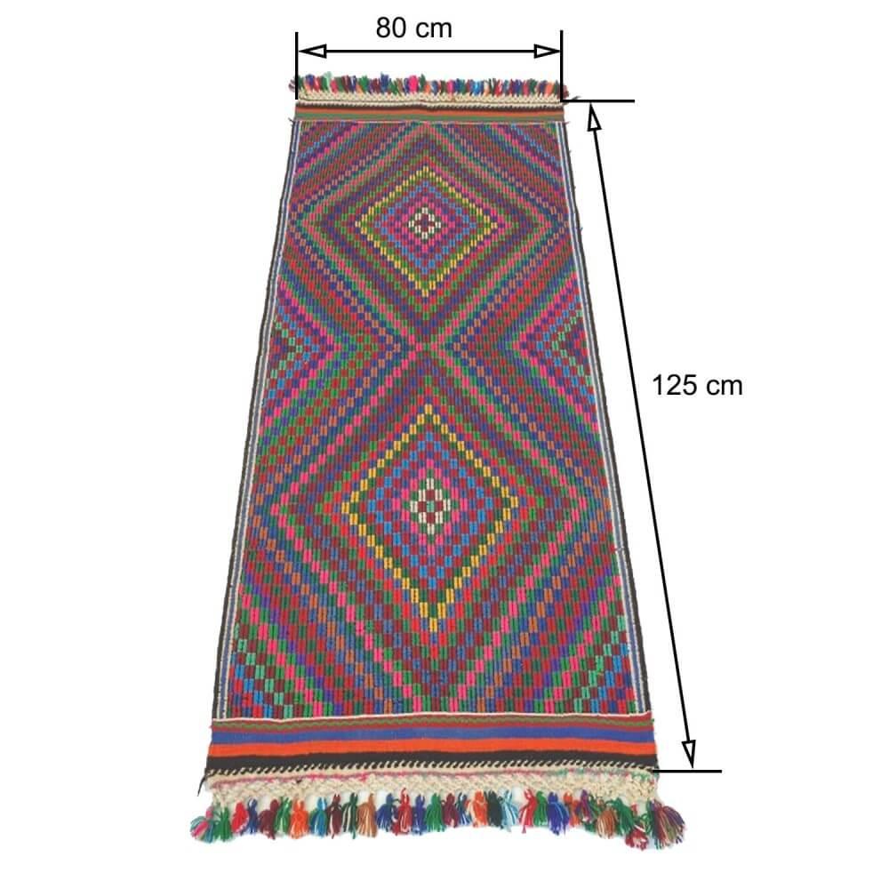 125 x 80 cm Handwoven oriental kilim rug - SHI_KR05