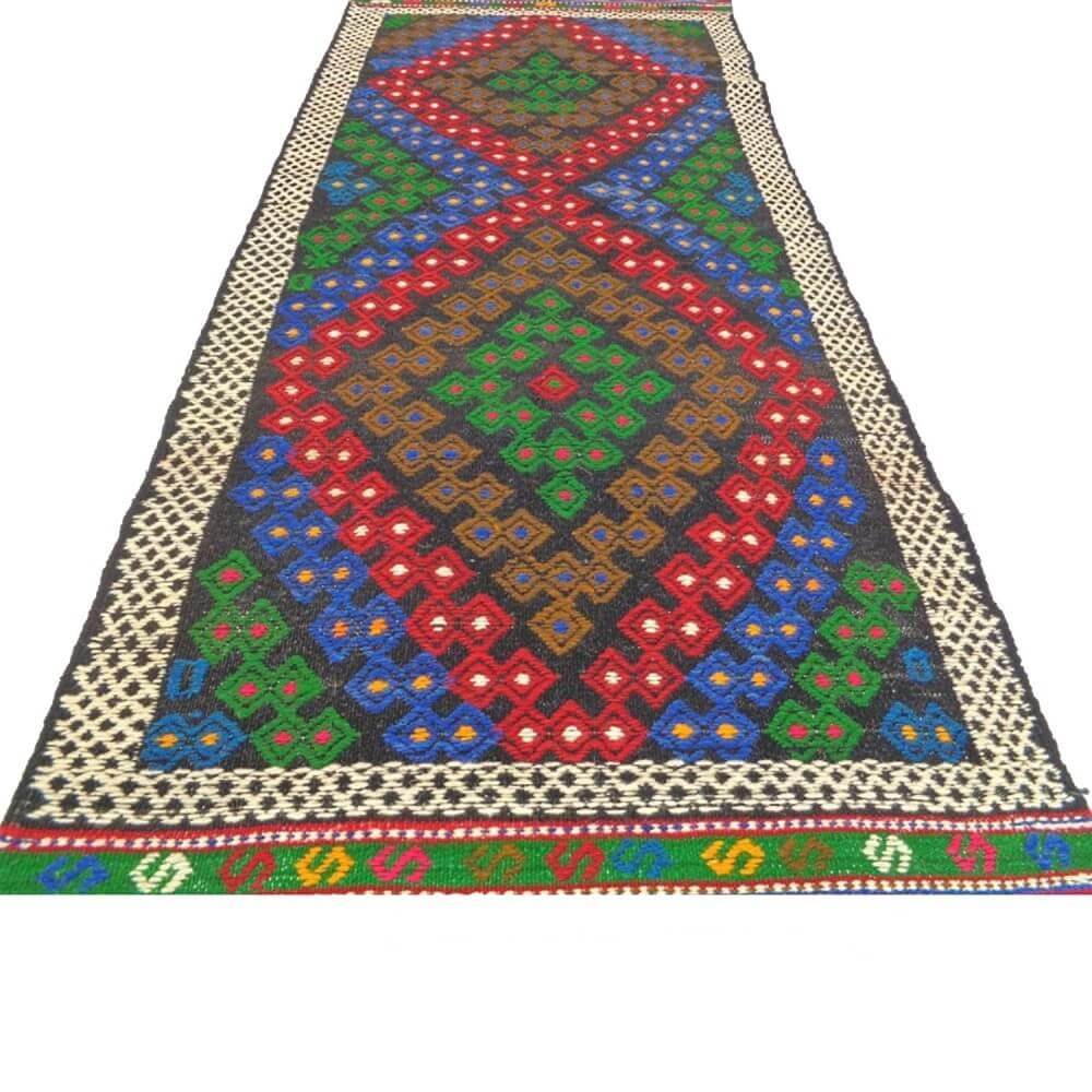 155 x 84 cm Handwoven oriental kilim rug - SHI_KR07
