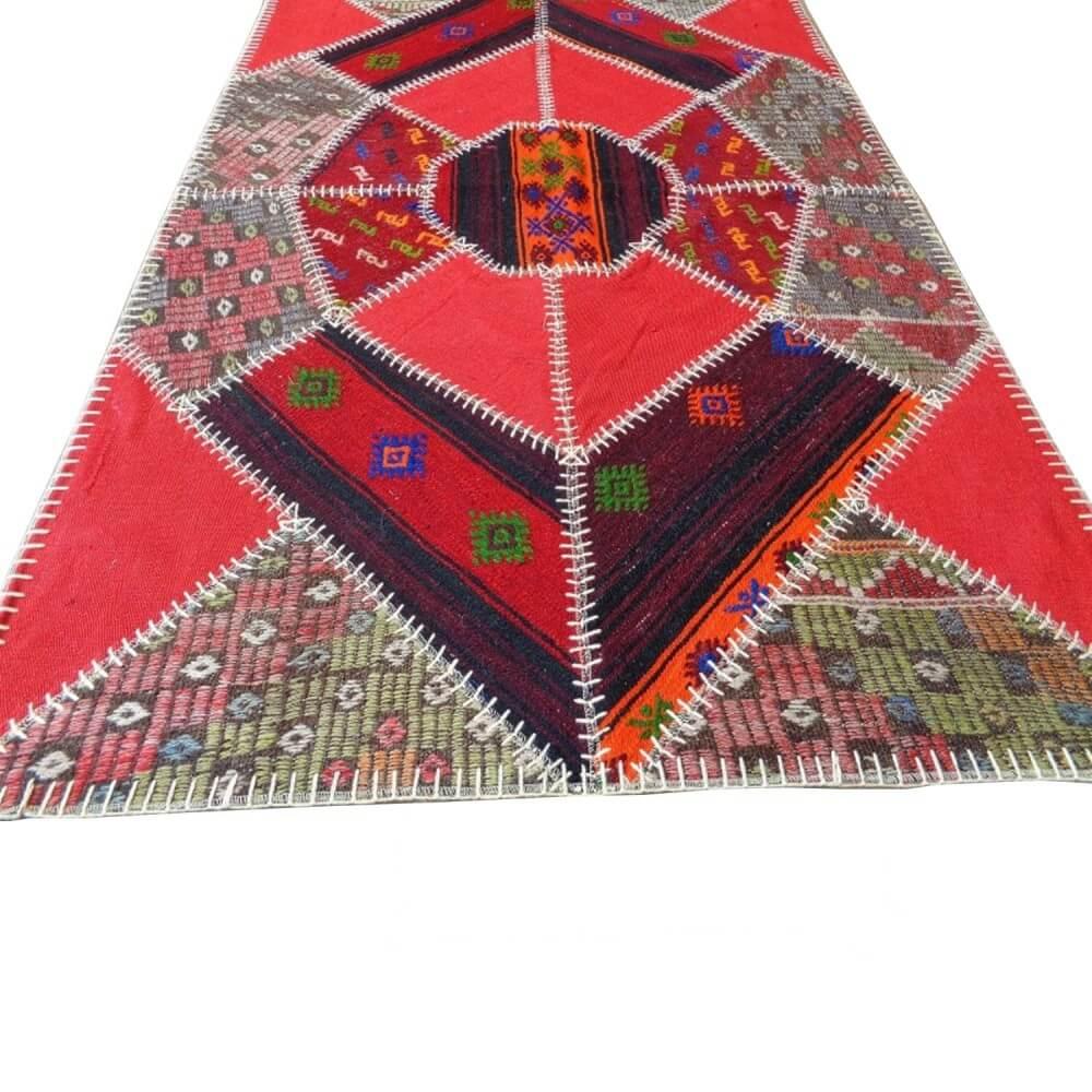 180 x 120 cm Handwoven patch work oriental kilim rug - SHI_KR12