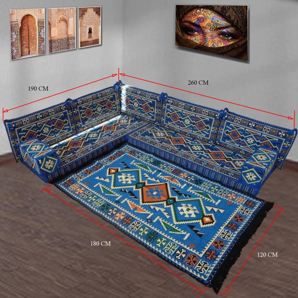 Corner floor sofa set - SHI_FSC05