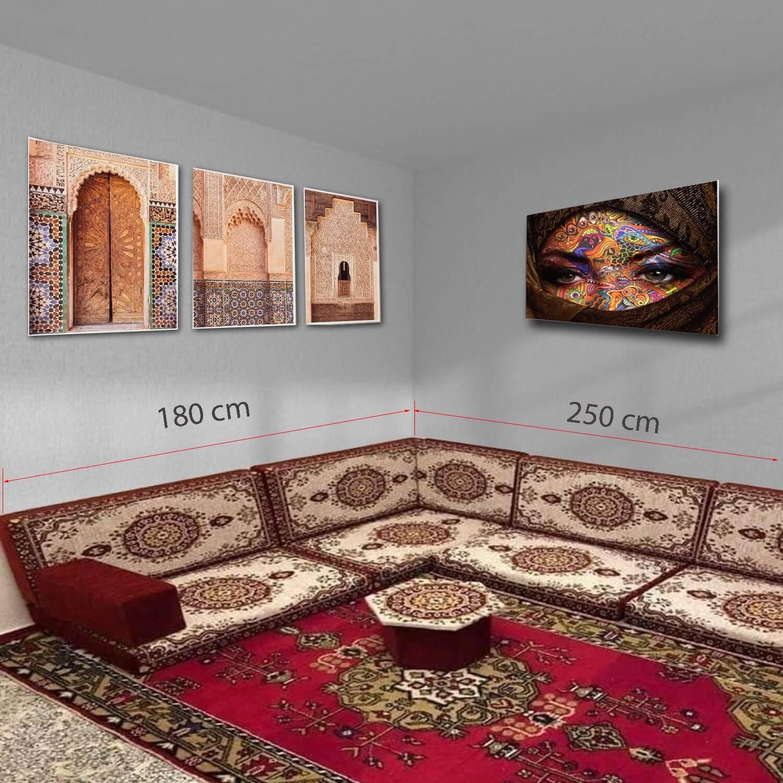 Corner floor sofa set - SHI_FSC03
