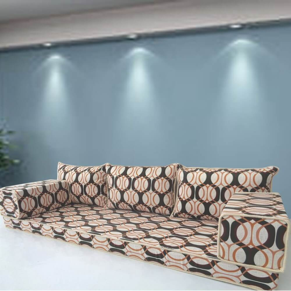 Floor sofa with triple back pillows - SHI_FS3106