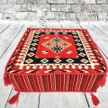 Square Turkish kilim pouffe