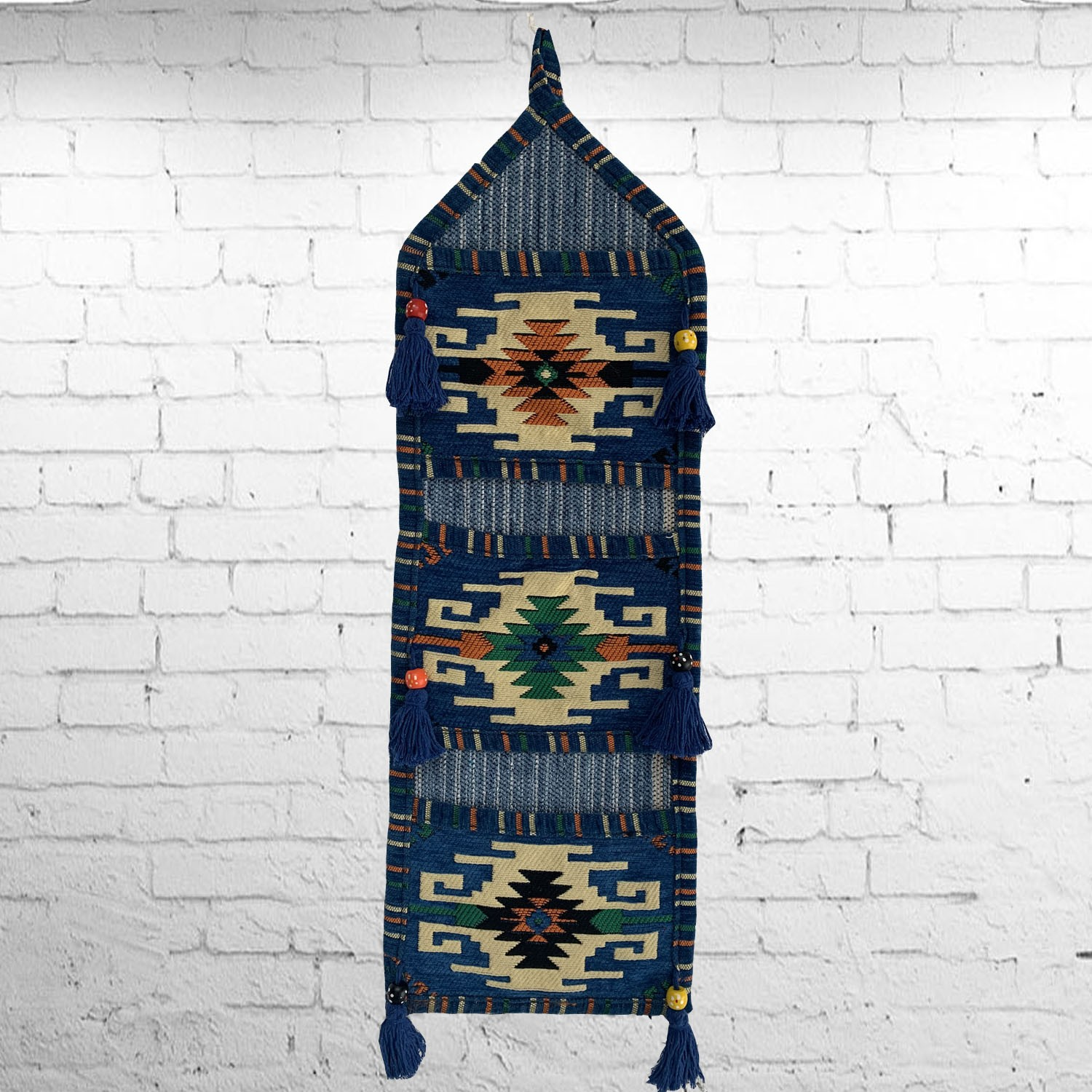 Bedouin style traditional kilim wall hanging