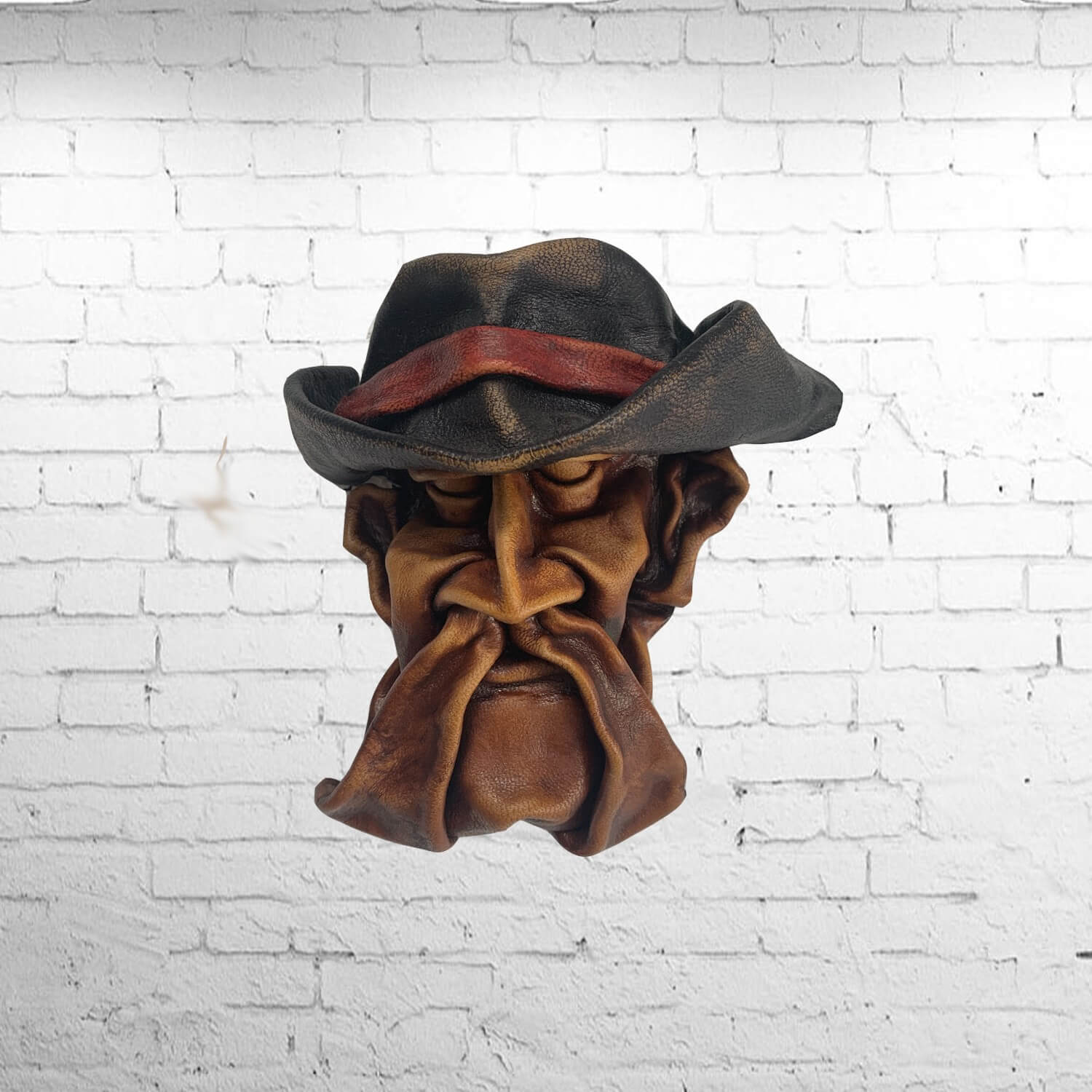 Pirate moulded leather wall mask