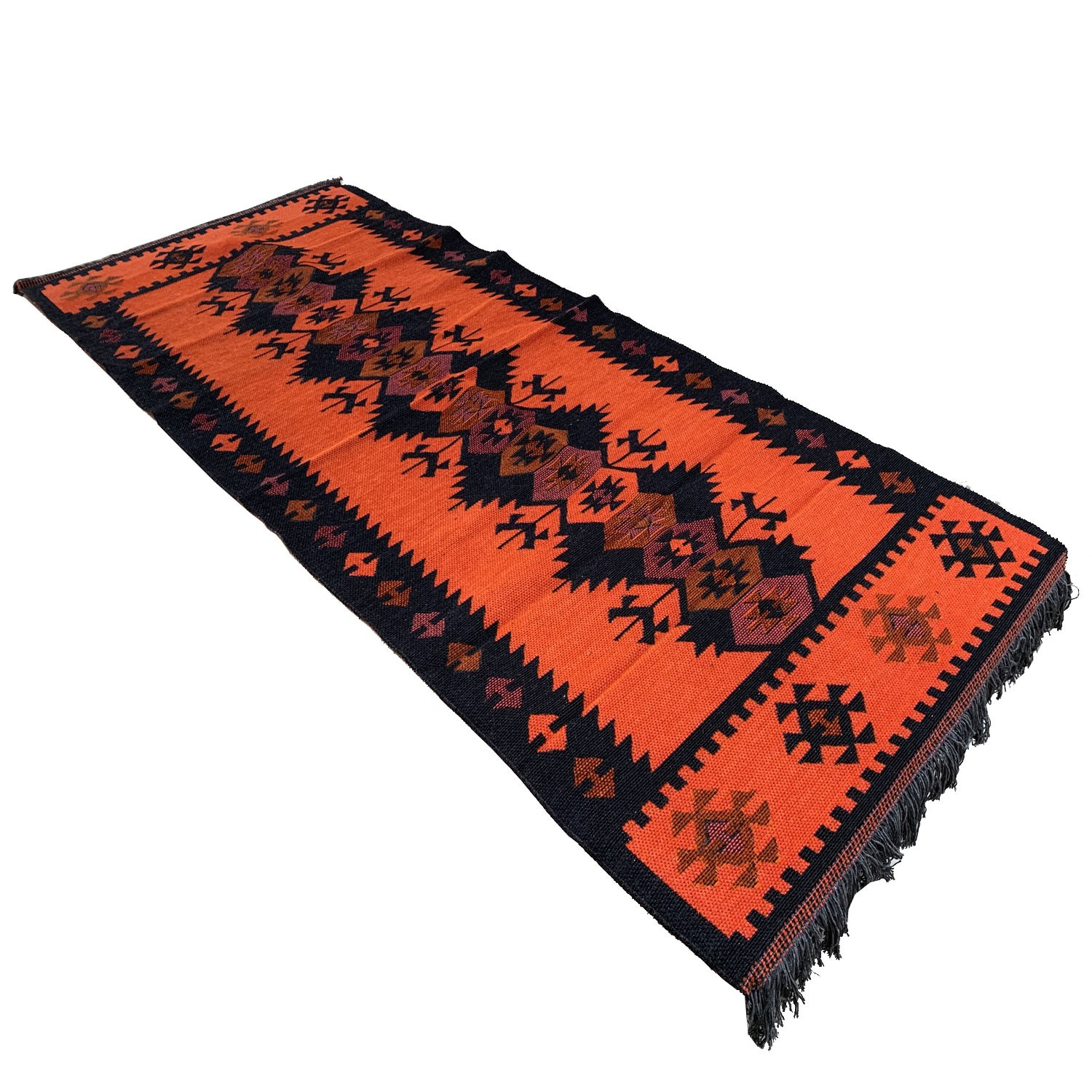 180 x 75 cm reversible oriental Turkish kilim runner