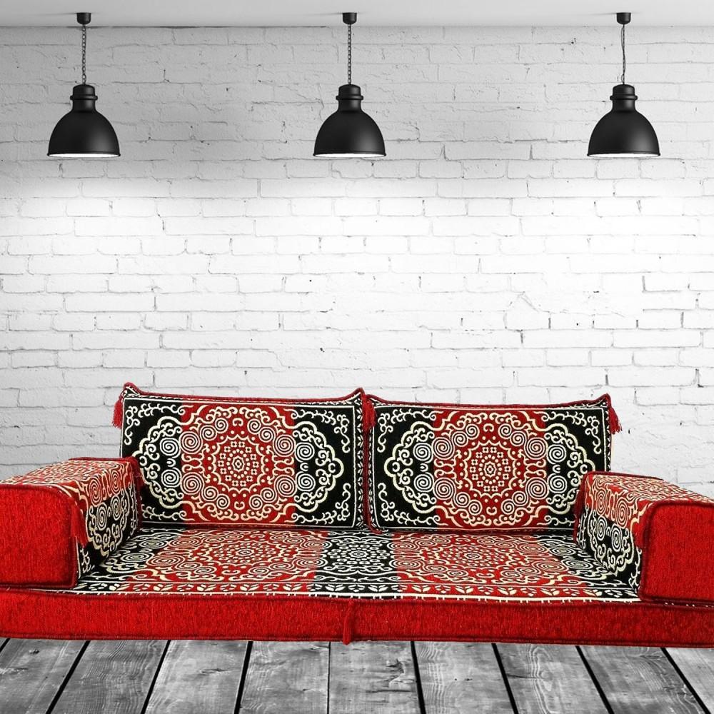Three Seater Oriental Majlis Floor Sofa Couch