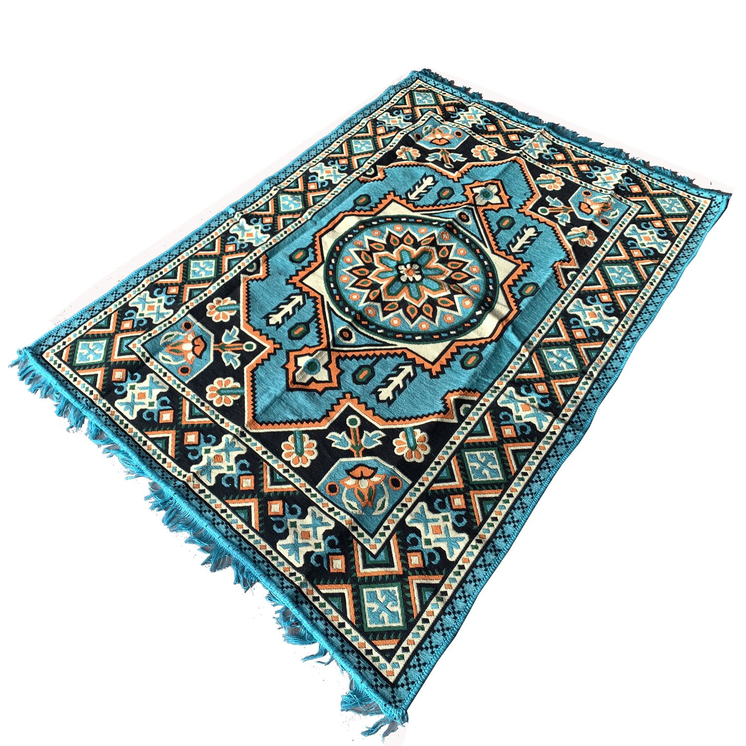 190 x 135 cm Blue oriental Turkish kilim rug
