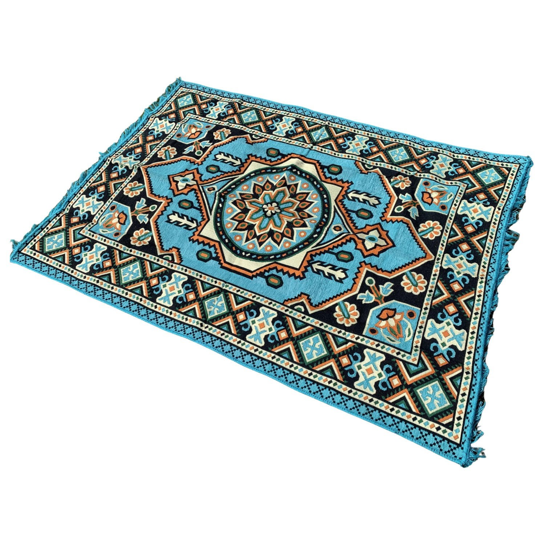 190 x 135 cm Blue oriental Turkish kilim rug