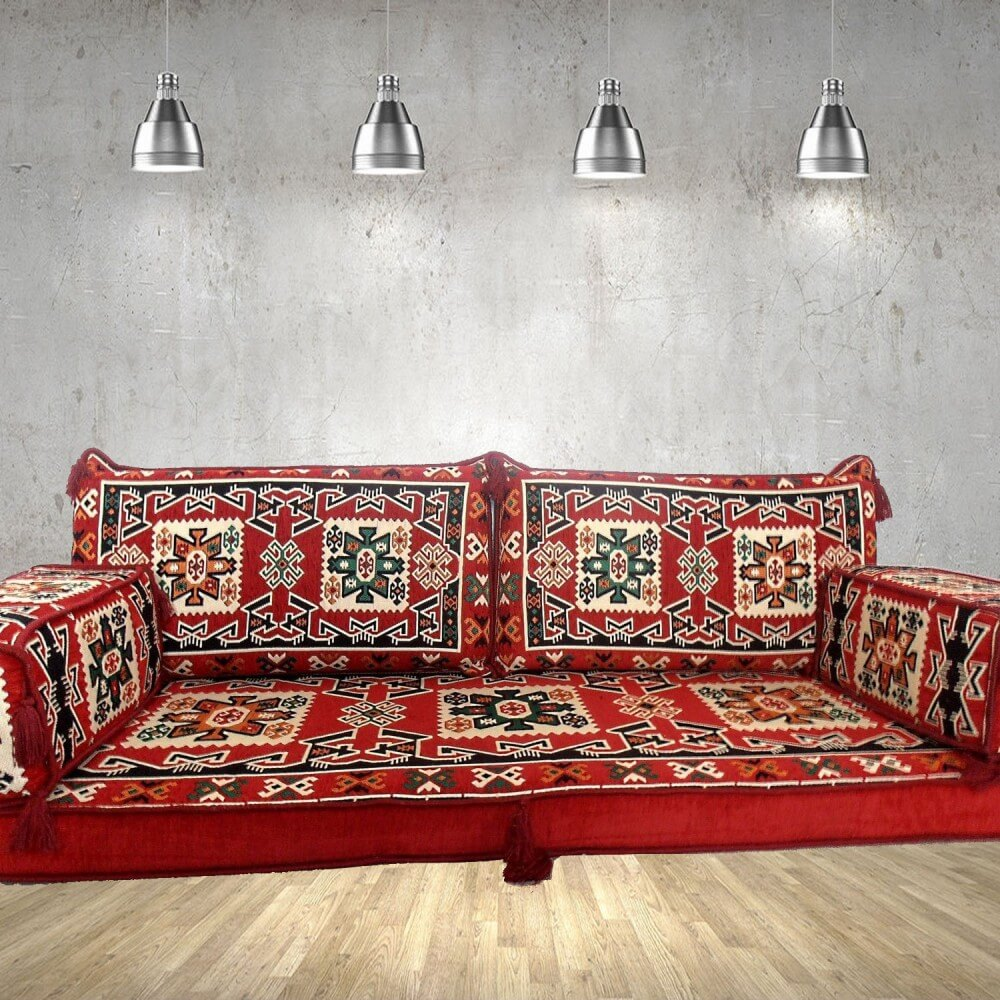Floor sofa with double back pillows - SHI_FS237