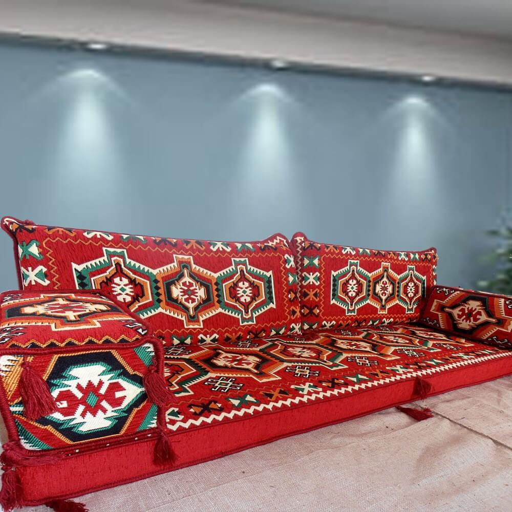 Floor sofa with double back pillows - SHI_FS238