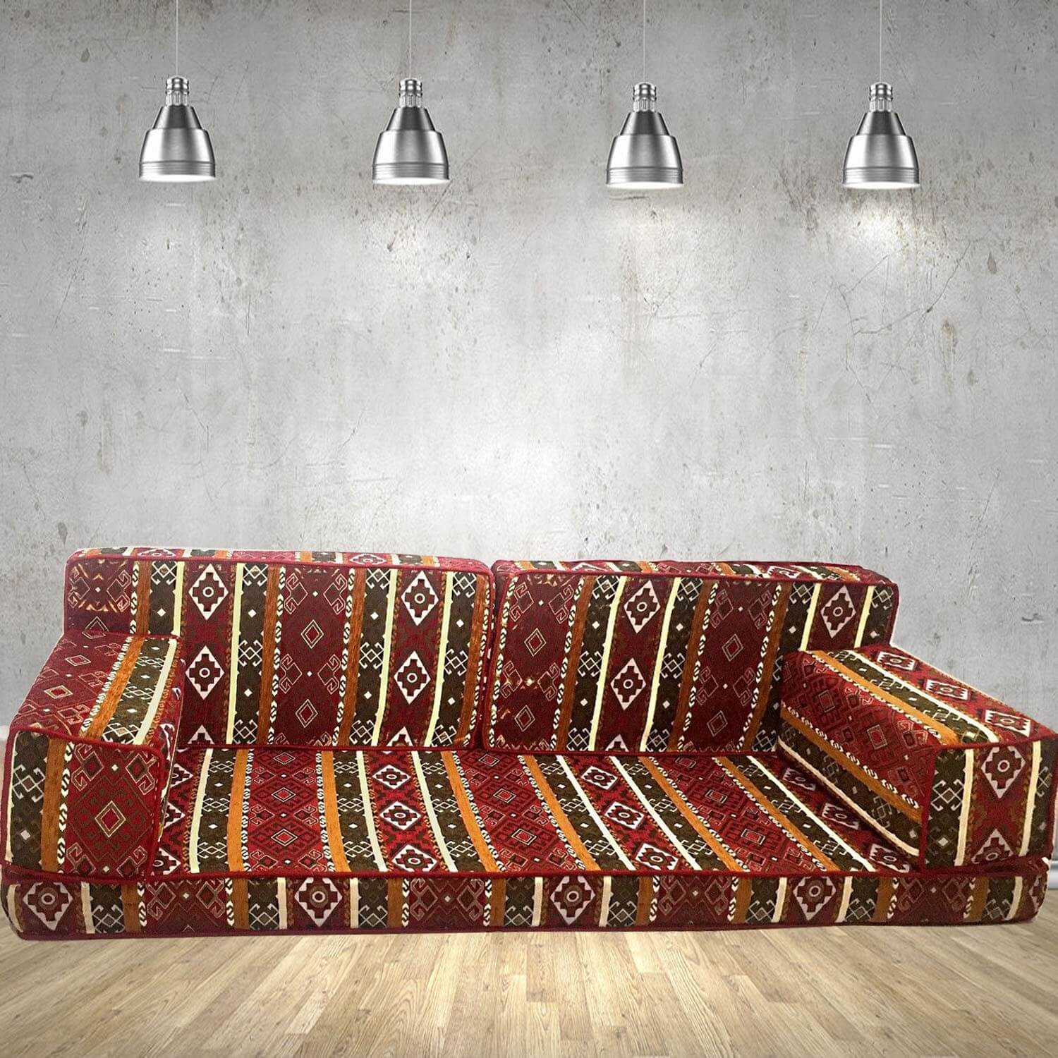 Floor sofa with double back pillows - SHI_FS217