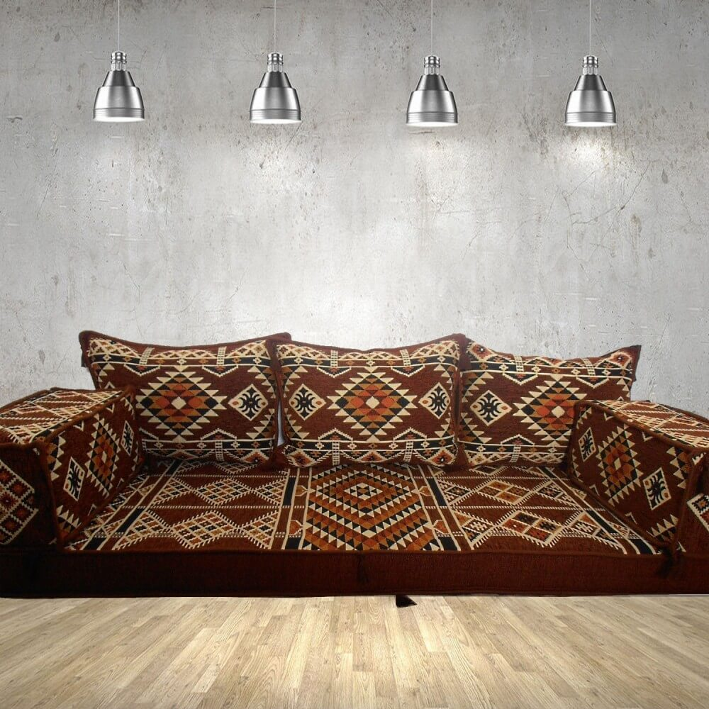 Floor sofa with triple back pillows - SHI_FS334
