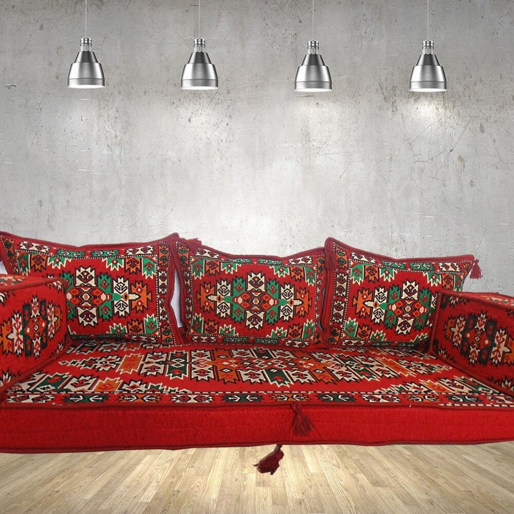 Floor sofa with triple back pillows - SHI_FS326