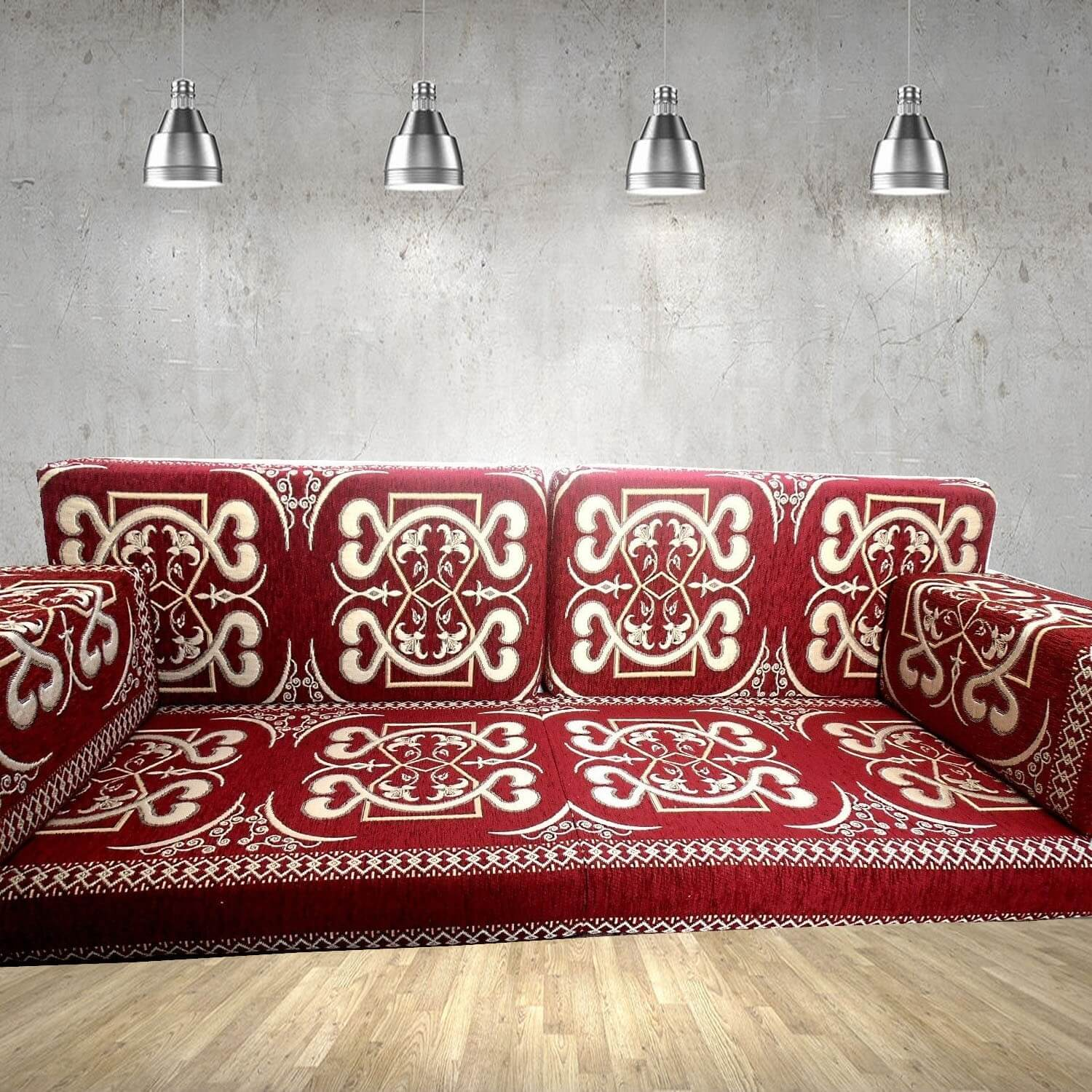 Floor sofa with double back pillows - SHI_FS205